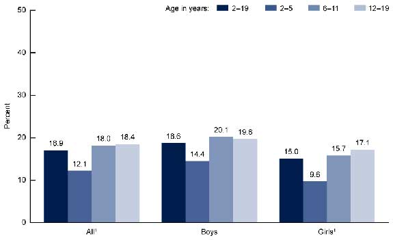 Prevalence of Obesity Among Children and Adolescents: United States, 2009-2010